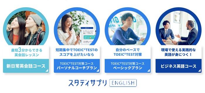 スタディサプリ英語TOEIC4コース